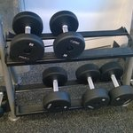 Gym - Dumbbells go up to 50 pounds
