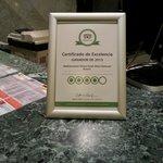 Certificado Trip Advisor 2013