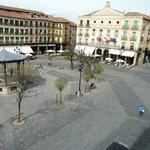 View of Plaza Mayor from hotel balcony