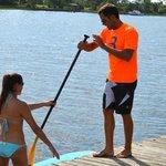 Paddleboarding instruction