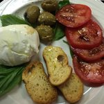Burrata, Cracked Green Olives, Farmstand Tomatoes