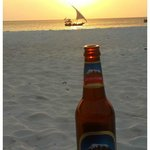 Beer on the Beach at Sunset