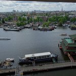 Amsterdam city view from 7th floor
