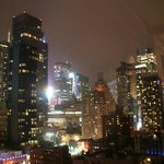 Uitzicht vanaf kamer in de avond