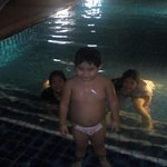 night swim in the pool beside our room