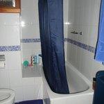 Bath and shower - wet floor alert!!