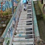 Piano steps in Valparaiso