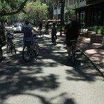 Biking around the complex