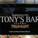Tonys Bar