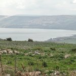 View of the Sea of Galilee from the road near Tel Hazor