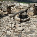 Olive/grape press inside Israelite home