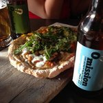 gluten free Omission beers and gluten free flatbread
