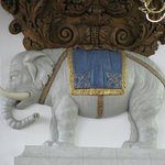 Elephant supporting the organ