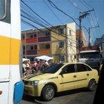 Traffic jam in the favela