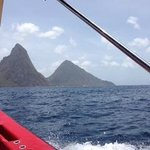 Pitons from the Boat