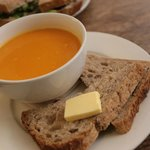 carrot and ginger soup, absolutely amazing.