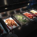 Seafood section: Mussels, 2 White fish, Salmon