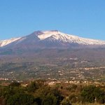 View of Mt Etna for our balcony!