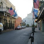 Hotel on left - that's St. Louis Cathedral at end of street - very close!
