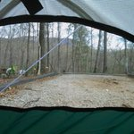 View from the side/back of our tent.
