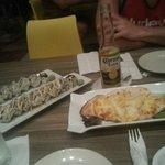 Mariachi roll, Francachela roll, and chicken quesadillas