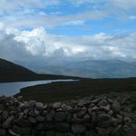 a loch upon Ben Nevis hiking path, nearly at the top