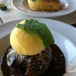 chocolate fondant and apple pie
