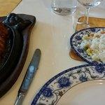 Canard au miel riz crevettes