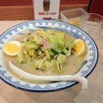 ちゃんぽん+揚げ卵トッピング