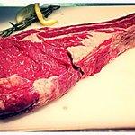 Dry aged Irish beef tomahawk