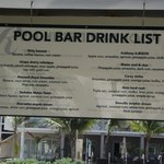 Drink list named after bartenders.