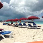 Great umbrellas and beach chairs