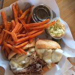 Italian beef with sweet potato fries :)