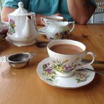 tea and beautiful china