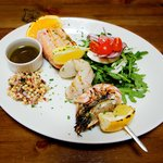 Chargrilled fish skewer