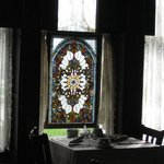 Lovely Stained Glass in Dining Area
