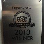 Certificado de excelencia en 2013, la mejor posada de la colonia Tovar, y la segunda mejor posad
