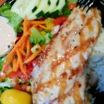 Grilled Yellowtail on a Plate