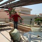 verandah of villa