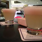 Bar in the lobby and delicious Pisco Sours