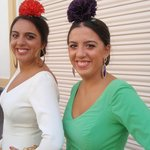 Women dressed for the Sept. bullfights/festival