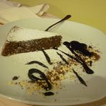 traditional local chocolate almond cake
