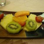 lovely fruit plate for dessert