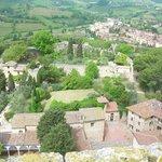 Blick nach Westen zur Burg Rocca