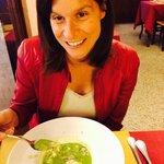Vellutata di piselli con tartufo e stracciatella di bufala:Cristina è soddisfatta!