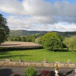 view of llangattock escarpment from room window