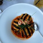Lobster ravioli at The Pointe