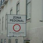 Zona somente para pedestres