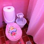 The pink bathroom!