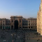 View from the top floor, overlooking Duomo square